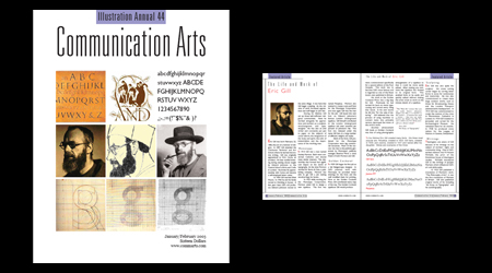 Communication Arts magazine spread
